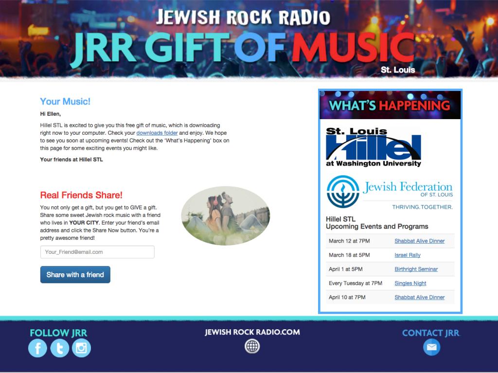 website screenshot Gift of Music