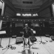 Rick Recht sound check at NewCAJE 2016 © Zach Dalin Photography